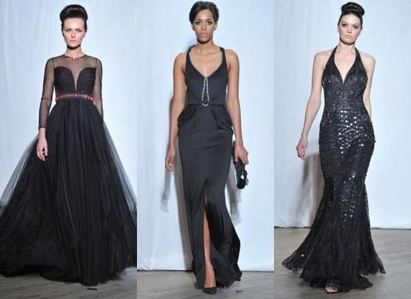 Чёрные вечерние платья