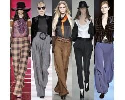 женщины начали носить брюки?