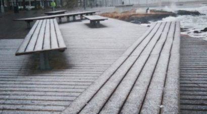 В Торревьехе выпал снег