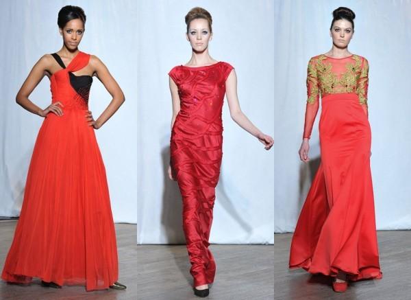 Длинные красные вечерние платья из коллекции «Мисс Полли», Christophe Guillarmé; Nicola Gleichauf/ Frank Barylko