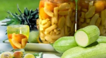 компот из кабачка под ананасы