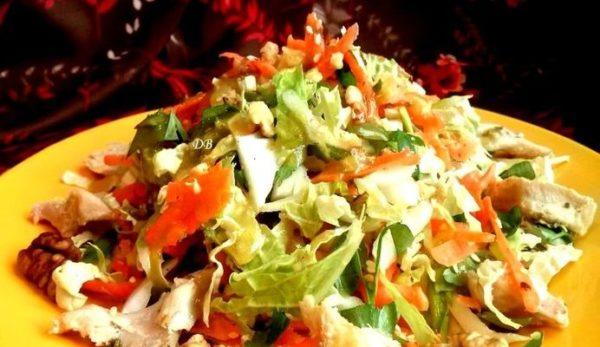 Очень легкий овощной салат