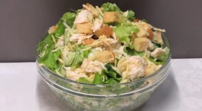 сочный салат из свежих овощей
