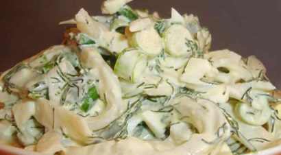 Салат из кальмара